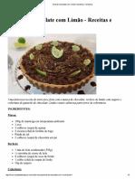 Torta de Chocolate Com Limão _ Receitas e Temperos
