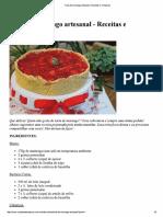 Torta de Morango Artesanal _ Receitas e Temperos