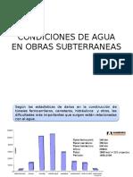 Condiciones de Agua en Obras Subterraneas