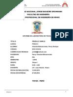 INFORME-FISICA-2 pendulo simple