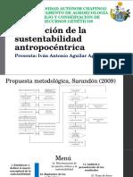 Evaluación de La Sustentabilidad Antropocéntrica