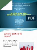 Gestion de Riesgo y Administracion de Desastre1