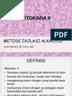 Kuliah 1 Isolasi Alkaloid