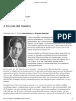 A Los Pies Del Maestro _ Mística