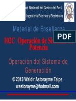 Operación Del Sistema de Generación
