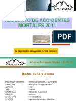Accidentes Mortales Volcan 2011
