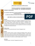 EL POSGRADO EN PEDAGOGÍA DE LAS ARTES DE LA UNIVERSIDAD VERACRUZANA EN EL CONTEXTO DE LAS SOCIEDADES DEL CONOCIMIENTO/INFORMACIÓN