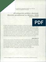 Investigación Político Electoral Elección Presidencial en México 2006