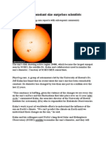Sun's Constant Size