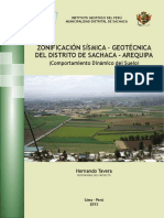 Informe Tecnico Zonificacion Sismica Geotecnica Sachaca