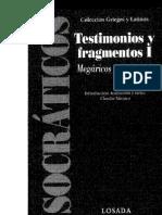Filósofos socráticos - Claudia Mársico
