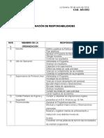 Asignación de Responsabilidades (IPER)