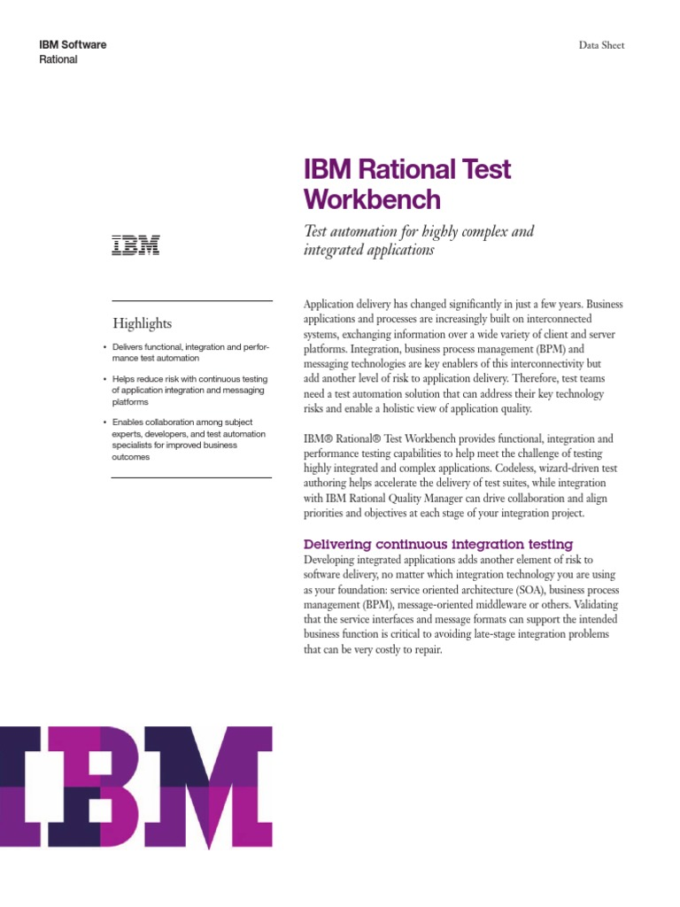 ibm rational test workbench business process management service oriented architecture