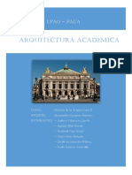 Informe de La Arquitectura Academica- Historia de La Arquitectura II