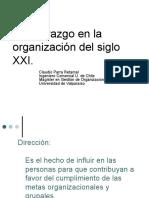 Dirección y Liderazgo en La Organización Del Siglo XXI