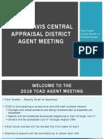 Agent meeting TCAD 2016
