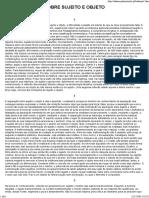 t. Adorno - Sobre Sujeito e Objeto