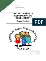 Taller Resolución de Conflictos (Segundo Ciclo)