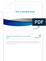 The Role of the Custodian Bank