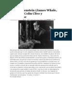 56. Frankenstein (James Whale, 1931) Con Colin Clive y Mae Clarke