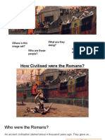 how civilised were the romans
