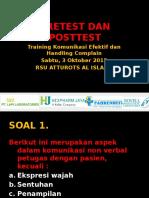 Soal Pretes Dan Posttest Komunikasi Efektif