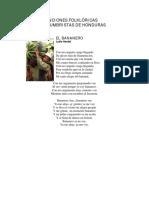 Canciones Folklóricas y Costumbristas de Honduras