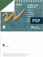 Cuaderno de Elementos Wisc IV Word