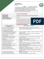 Language Curriculum for Secondary Schools Syllabus(OBE)
