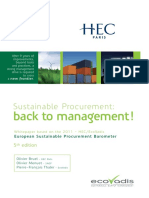 European Sustainable Procurement Benchmark 2011 Hec Ecovadis