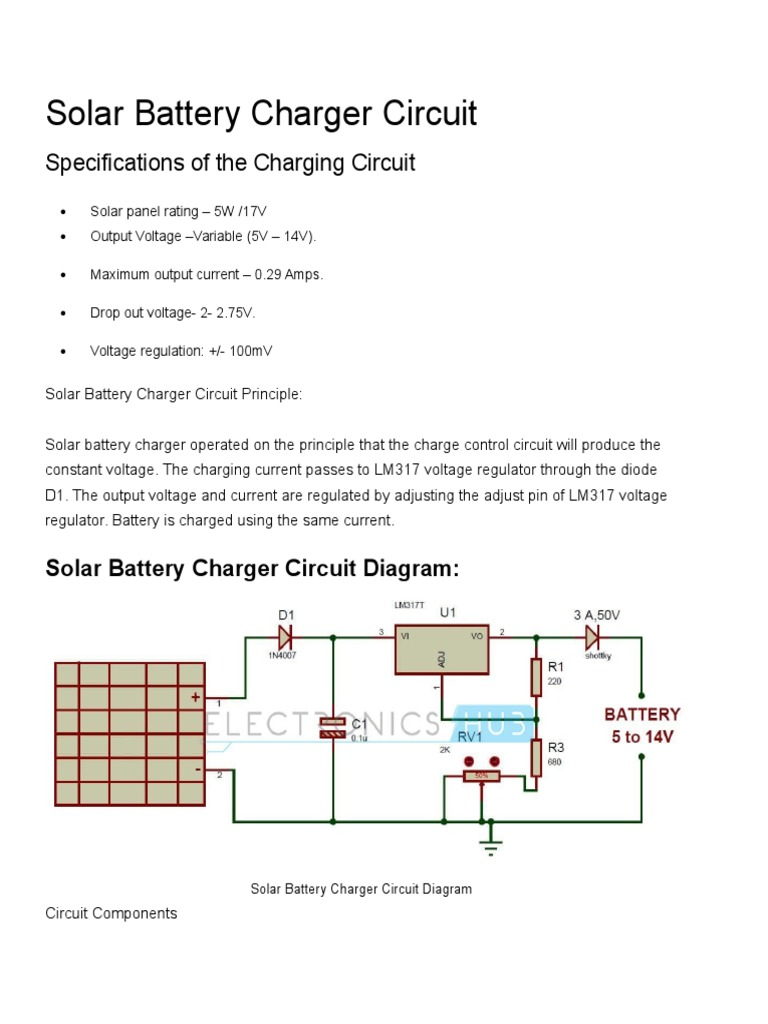 Solar Battery Charger Circuit Power Supply Rectifier Lithium Ion 2 Powersupplycircuit