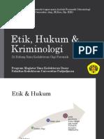 Etik, Hukum & Kriminologi