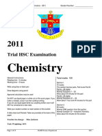 Hurlstone 2011 Chemistry Trials & Solutions
