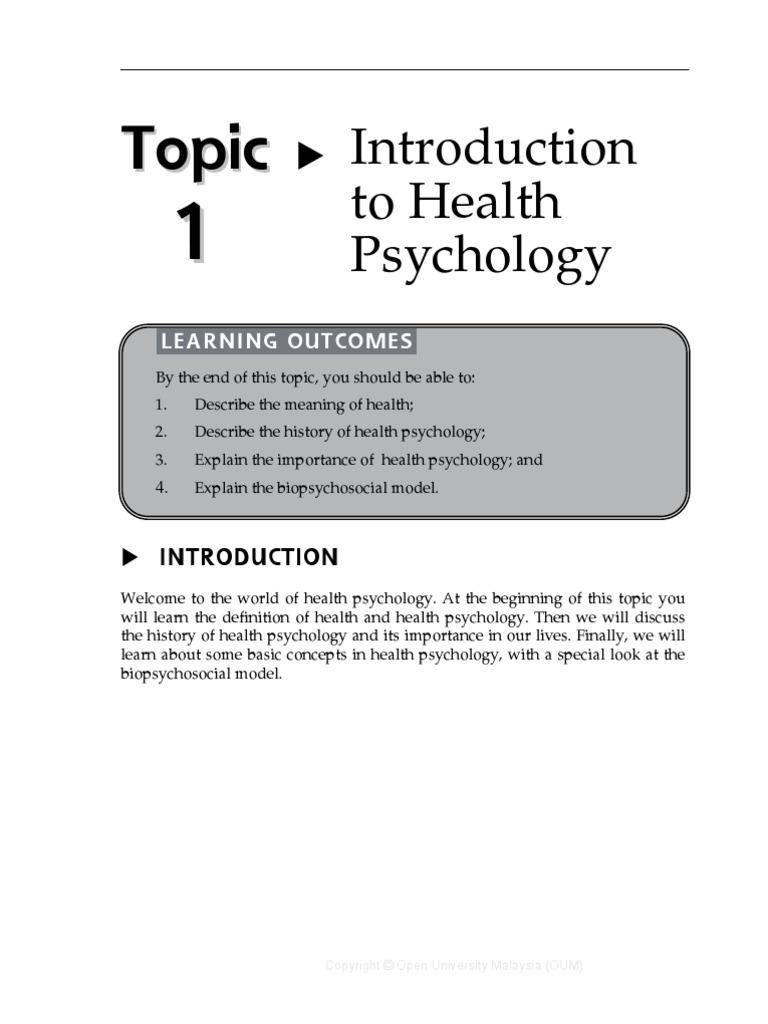 05 abpg2103 topic 1 | health psychology | psychosomatic medicine