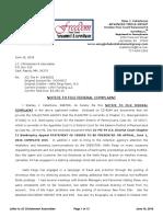 Letter to J.C. Christensen & Associates Re Wells Fargo Collection of June 16, 2016