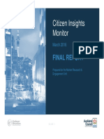 Citizen Insights Monitor Baseline Report March 2016