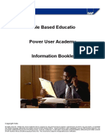 Power User Academy Booklet