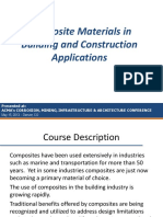 Composite Materials in Building and Construction Applications