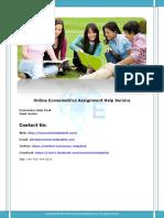 Online Econometrics Assignment Help Service