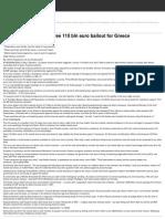 110 Bln Euro Bailout for Greece