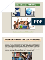 PMI Certification Exams PMI-001 Braindumps