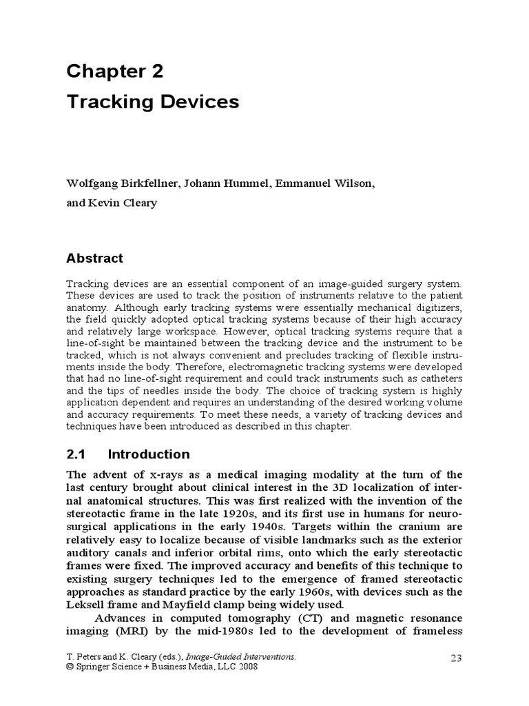 Tracking Devices | Medical Imaging | Matrix (Mathematics)
