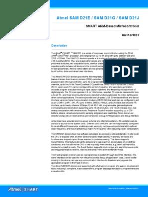 Atmel 42181 SAM D21 Datasheet | Arm Architecture
