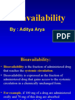 Pharmacology Bioavailability