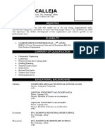 Sample of Professional Resume