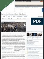 Europe Crisis Deepens as Chaos Grips Greece