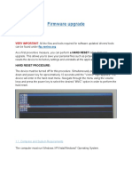 Vonino Firmware Upgrade Procedure