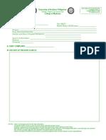 Pediatrics Physical Diagnosis Form Version 3
