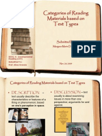 Classification of Reading Materials