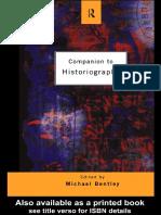 Companion to Historiography
